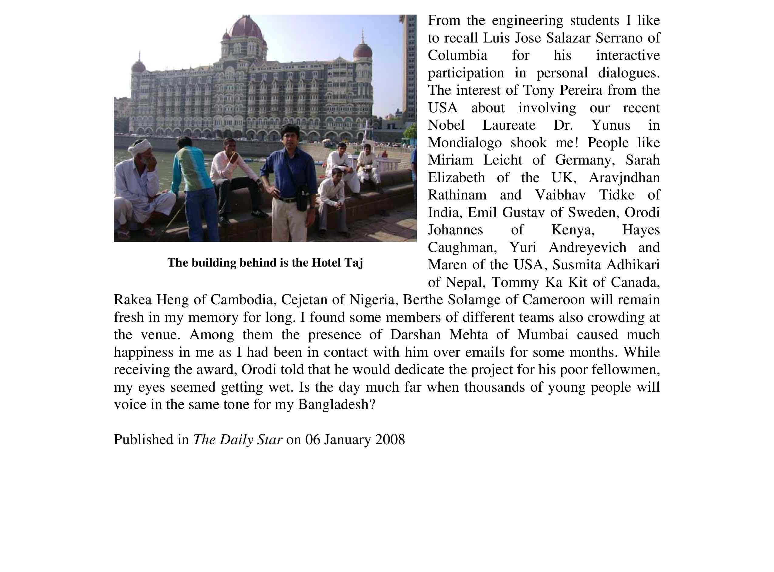 Global Dialogue: Mumbai or Elsewhere